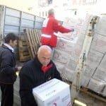 Kızılay'dan Süryanilere 4.5 ton yardım