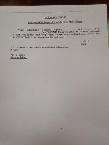 Maltepe Orhangazi Anadolu Lisesi müdürüne suç duyurusu