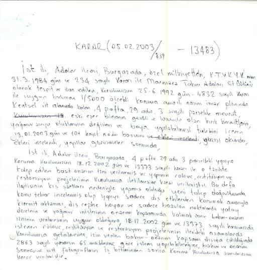 Burgazadası'nda Tarihi Skandal! Belgeler