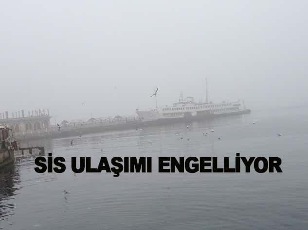 Adalar'a ulaşıma sis engeli