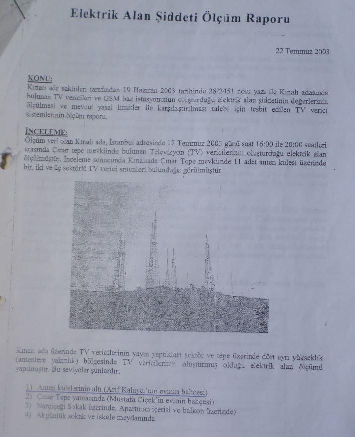 Elekrik Alan Şiddeti Raporu