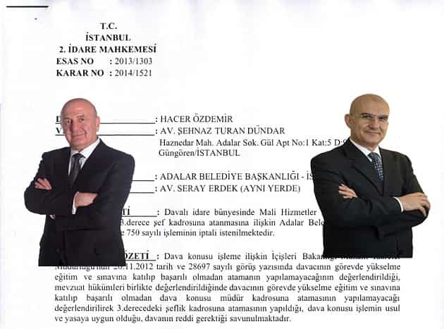 Adalar Belediyesi'nde müdür olma şartı!!!