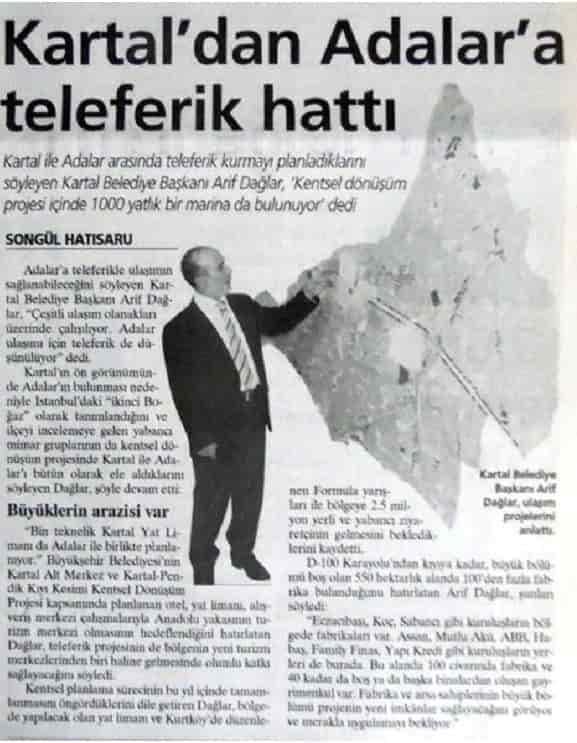 2007 yılında Kartal'dan Adalar'a teleferik!