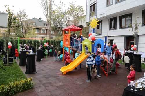 Çocuklar parklarını açtı
