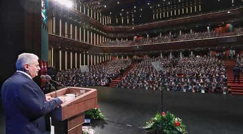 """Başbakan Yıldırım Beştepe Millet Kongre ve Kültür Merkezi'nde düzenlenen """"Adalet Şurası""""na katıldı."""