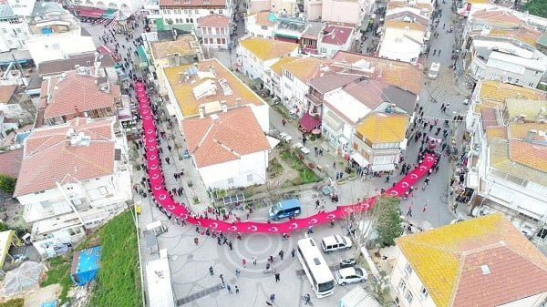 Adalar'da 18 Mart Çanakkale Zaferi'nin 103. yıl dönümü coşku ile kutlandı