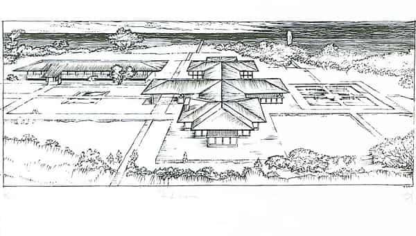 Büyükada Dilburnu'ndaCumhurbaşkanlığı yazlık konuyu çizim ve maketi