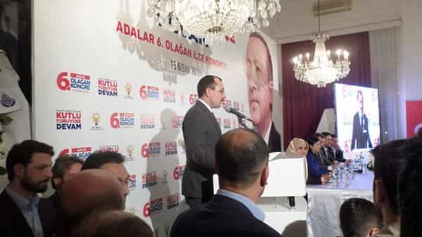 Adalar AK Parti İçe Başkanlığı 6. Olağan Kongresi gerçekleşti