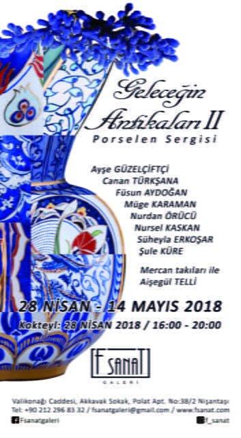 """""""Geleceğin Antikaları II"""" F Sanat Porselen'den Anneler Günü'ne özel sergi"""