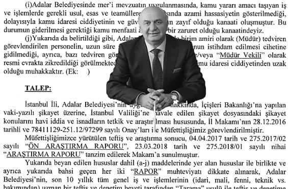 Adalar Belediye Başkanlığı hakkında suç duyuruları !