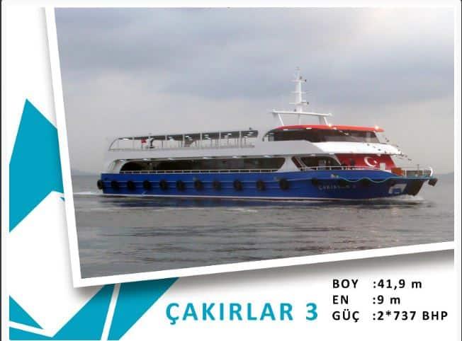Bostancı-Kınalıada-Burgazadası Mavi Marmara motor tarifesi