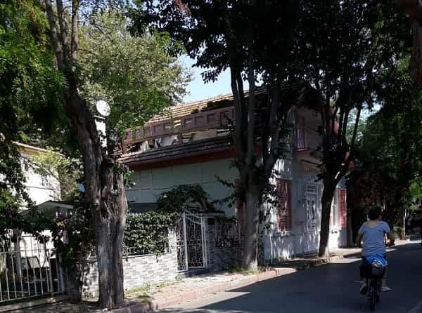 Büyükada'daki tarihi binadaki çalışmalar