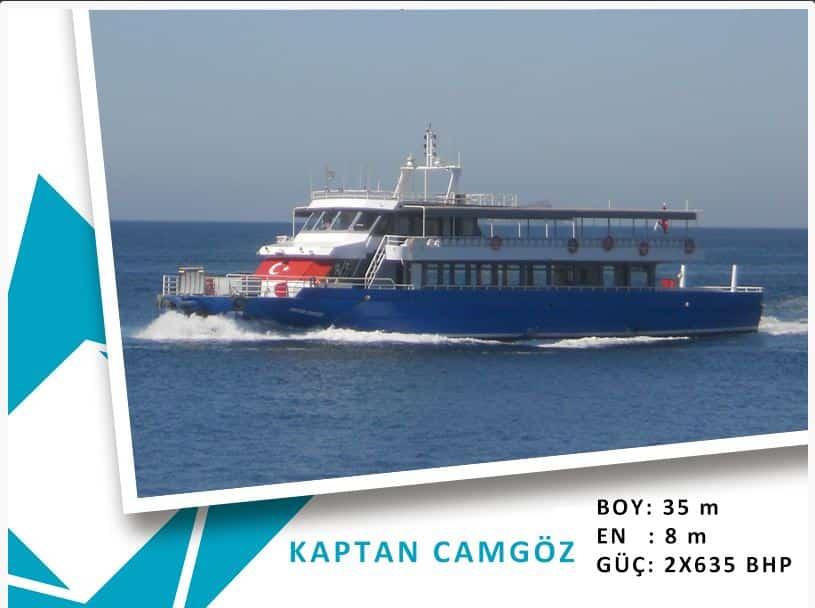 Heybeliada-Bostancı Mavi Marmara motor tarifesi