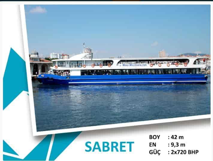 Kınalıada-Bostancı Mavi Marmara motor tarifesi