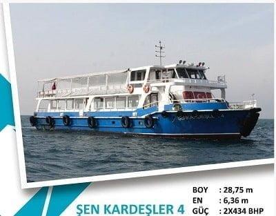 Kınalıada-Burgazadası Mavi Marmara motor tarifesi