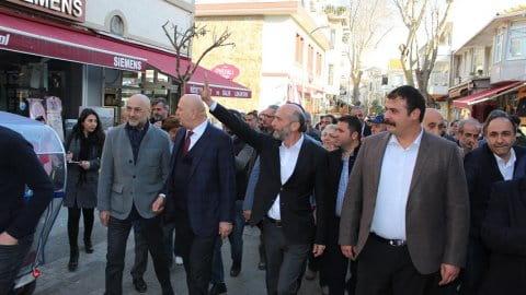 Erdem Gül CHP Adalar İlçe Başkanı Kerem Tunç'u ziyaret etti
