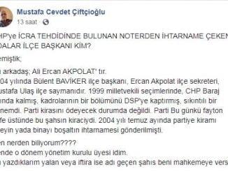 CHP Adalar İlçe Başkanı için şok iddia