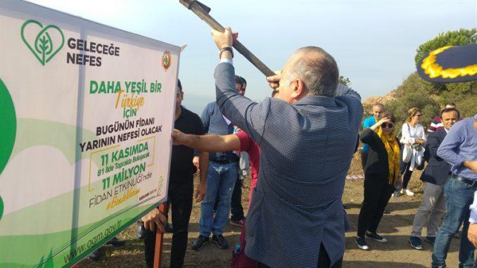 Dünya rekoruna 1.111 fidan ile Burgazadası'ndan destek!