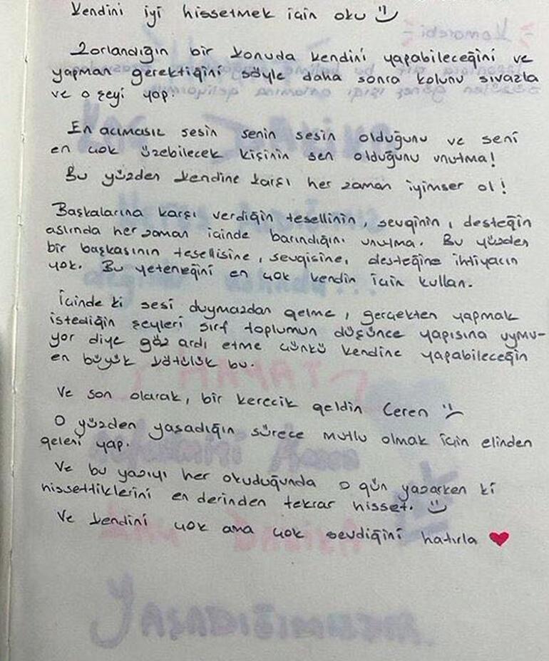 Son dakika... Ceren Özdemir'in kahreden notları ortaya çıktı Planlarını böyle not almış…