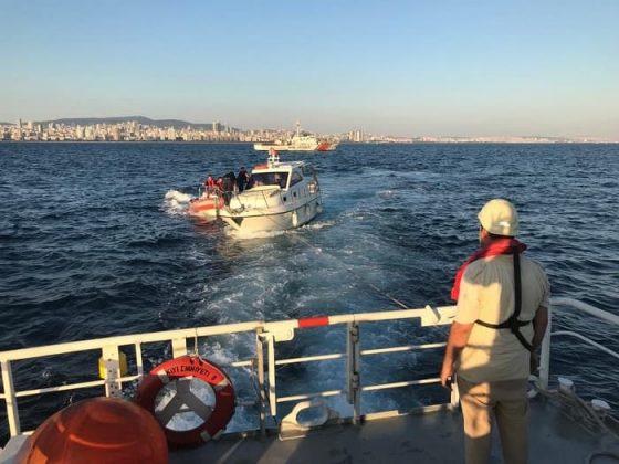 Heybeliada açıklarında sürüklenen iki tekne kurtarıldı
