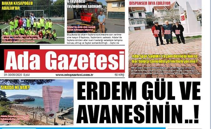 Ada Gazetesinin Eylül sayısı çıktı