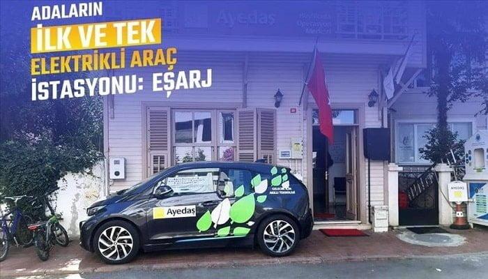 Adalar'ın ilk elektrikli araç şarj istasyonu Eşarj oldu