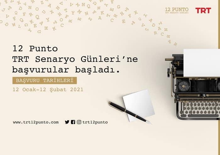 """""""12 Punto TRT Senaryo Günleri"""" Başvuruları Bugün Başladı"""