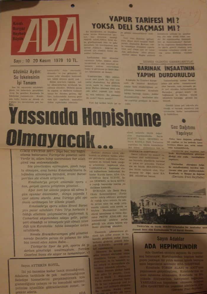 Ada Gazetesi 43 yaşında
