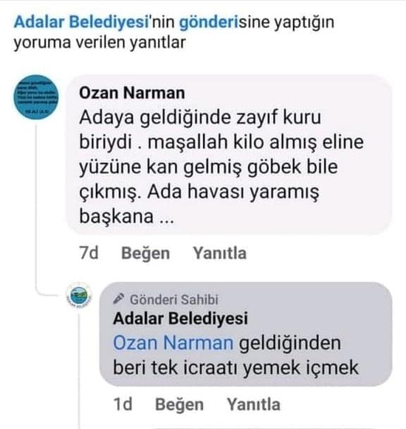 Adalar Belediyesi, başkanları Erdem Gül'ü belediyenin resmi sitesinden eleştirdi!