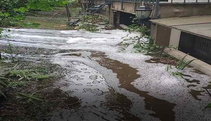 Büyükada'daki İSKİ temiz su deposunda art arda taşma!