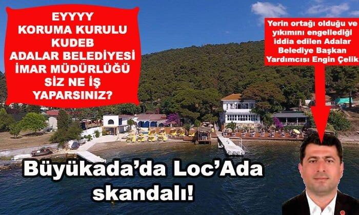 Büyükada'daki Loc'Ada şimdi de denizi doldurmaya başladı!