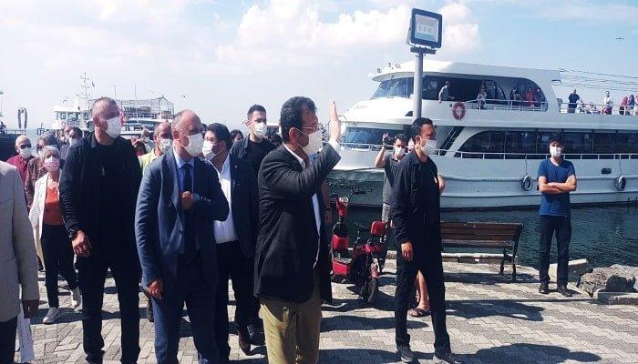 İBB Başkanı Ekrem İmamoğlu Adalar'da