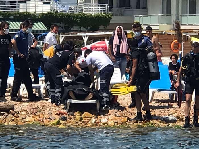 Kınalıada'da cansız bedeni denizin 6 metre derinliğinde bulundu