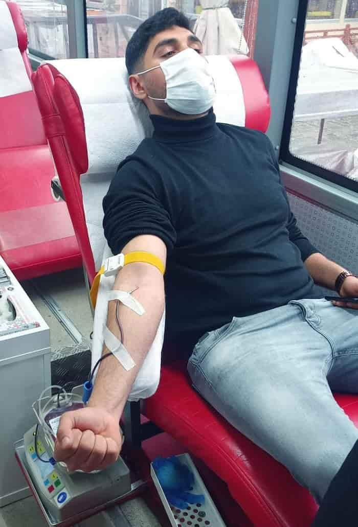 Şehitler adına organize edilen kan bağışlama etkinliği Büyükada'da gerçekleşti